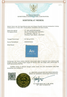 AISI DRY CHEMICAL POWDER CERTIFICATE